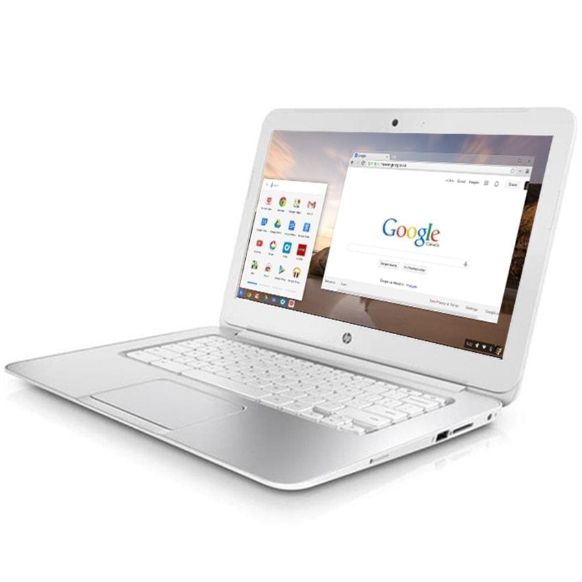 "HP Laptop Chromebook Powerful 14"" 16GB 4GB Webcam HDMI Refurbished White Sale"