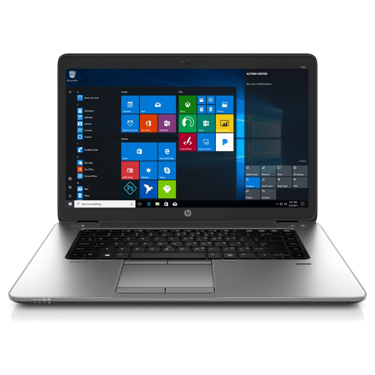 "HP Laptop 15.6"" Elitebook 850 180GB SSD 8GB Powerful Core i5 Windows 10 Pro Sale"
