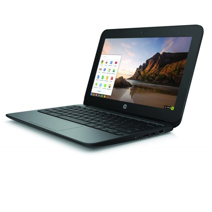 "HP Laptop Chromebook G4 Powerful 11.6"" 16GB 4GB Webcam HDMI Refurbished Black"