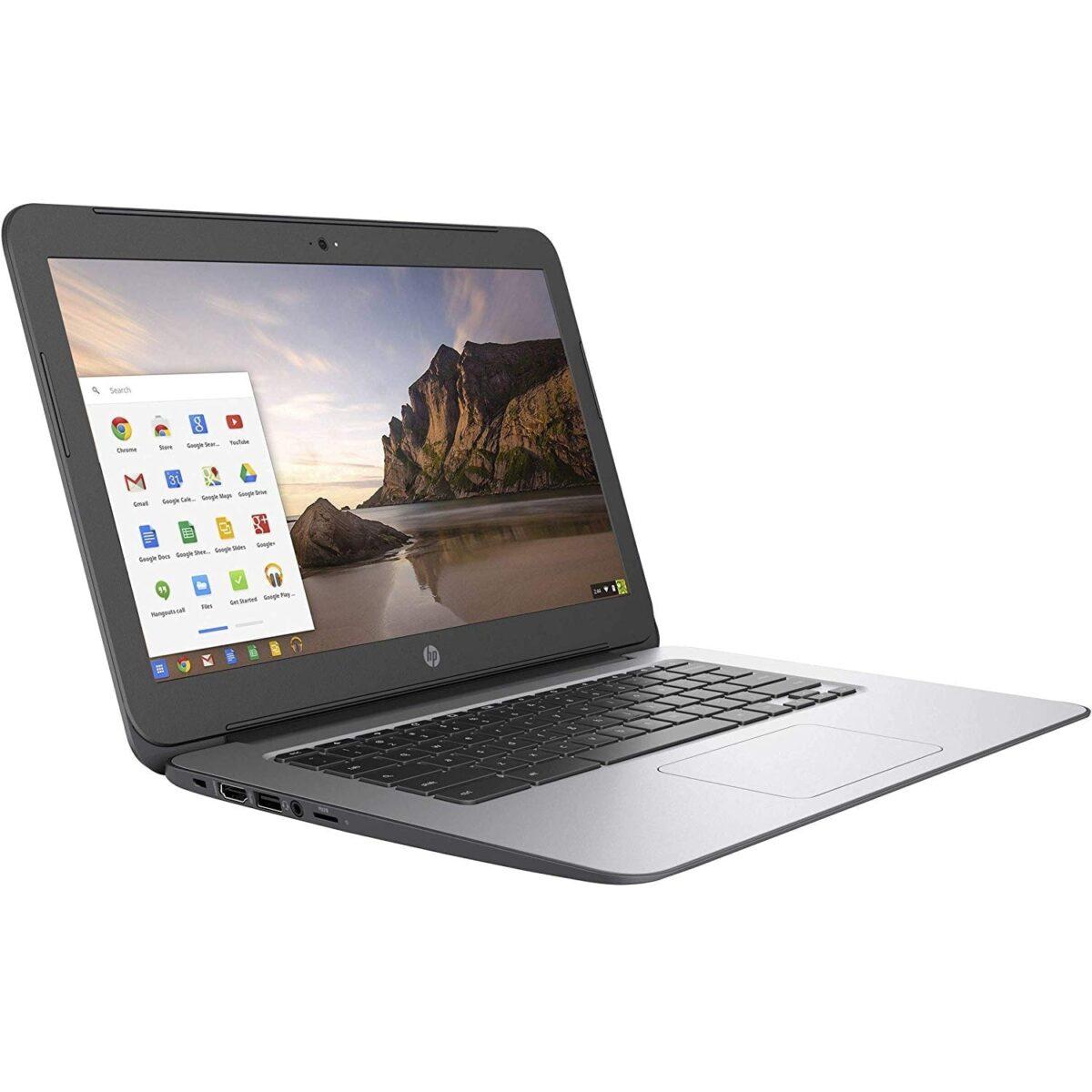 "HP Laptop Chromebook G4 Powerful 14"" 16GB 4GB Webcam HDMI Refurbished Black Sale"