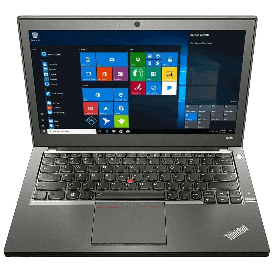 Lenovo Ordinateur portable 500 Go HDD 8 Go RAM Puissant X240 Core i5 Windows 10 Webcam Vente