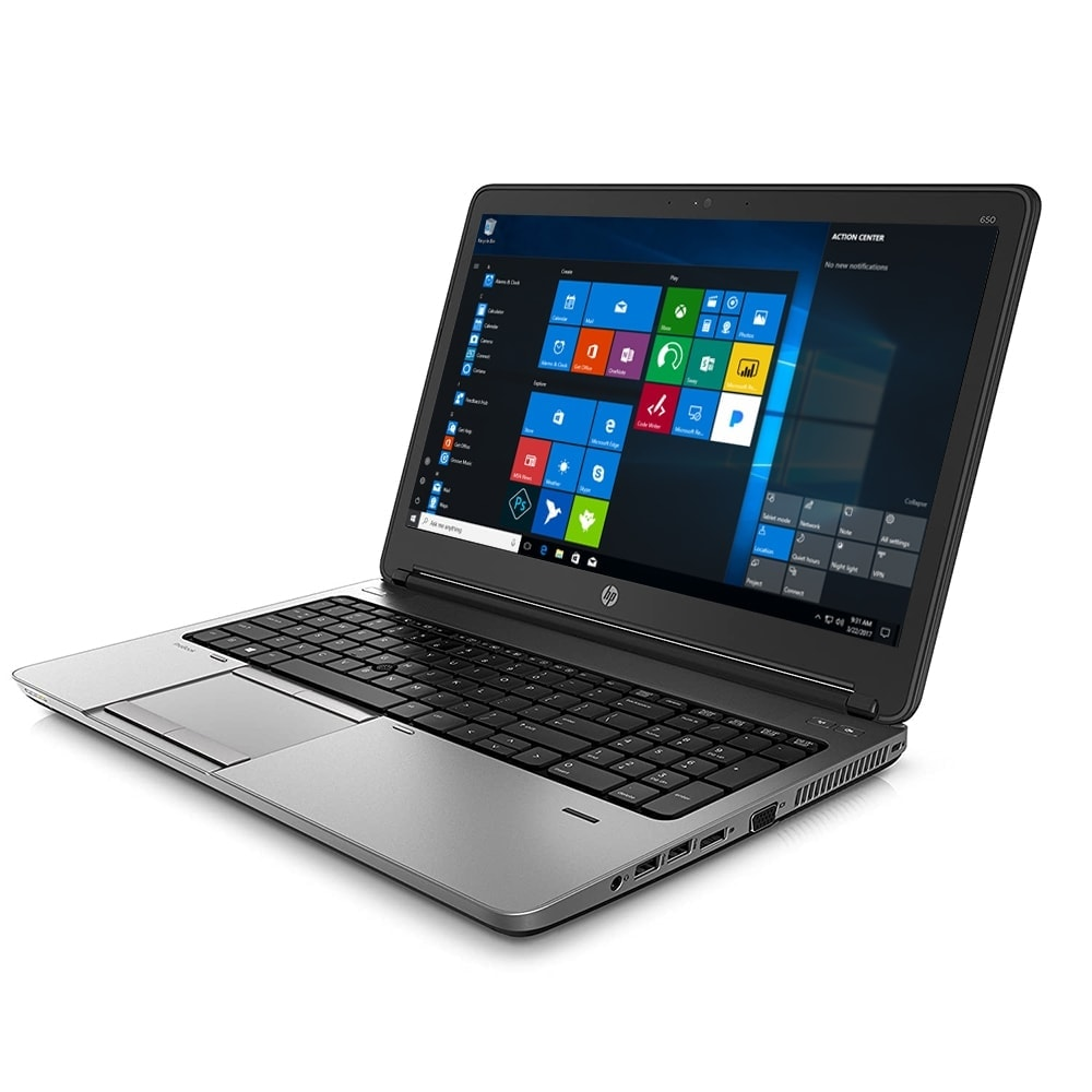 "HP Laptop 15.6"" Probook 650 180GB SSD 8GB Powerful Core i5 DVD Windows 10 Sale"