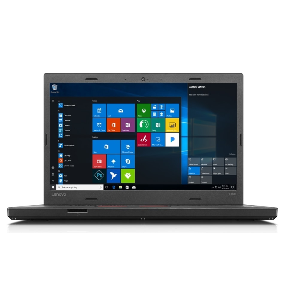 "Lenovo Laptop ThinkPad 14"" 256GB SSD 8GB RAM Powerful L470 Windows 10 Pro"
