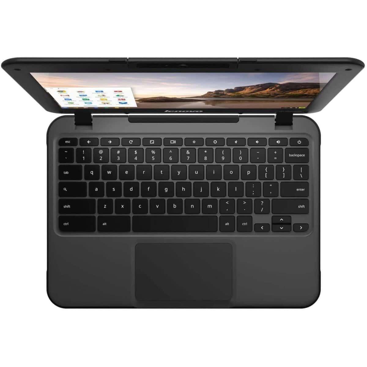 "Lenovo Chromebook Laptop Powerful 11.6"" 16GB 4GB Webcam HDMI Intel Chrome OS Black"
