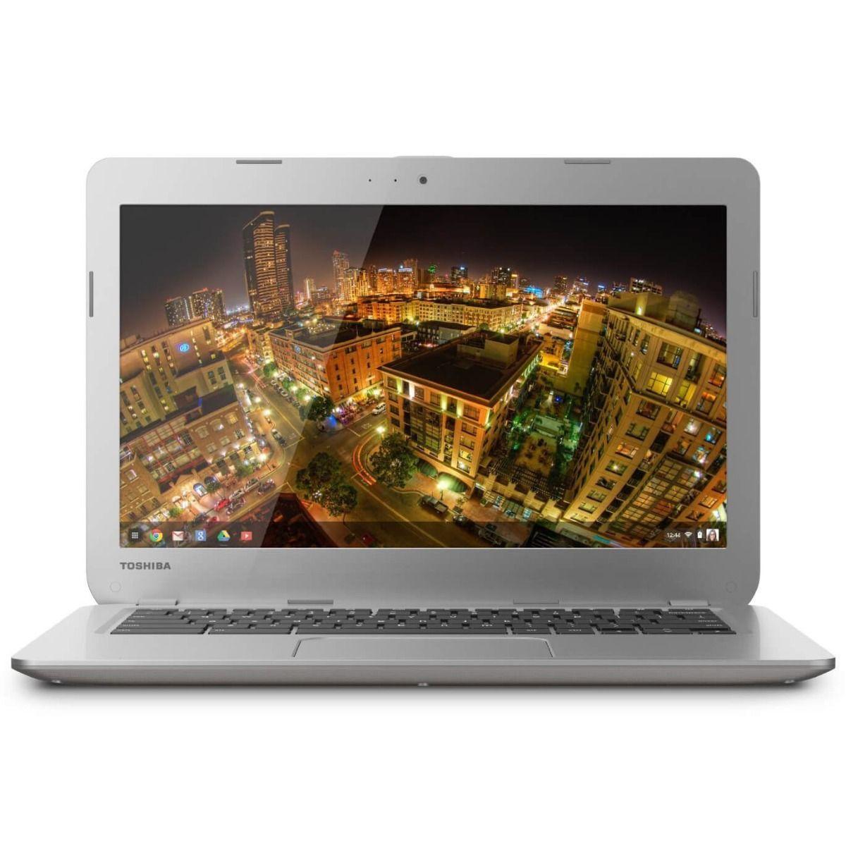"Toshiba Laptop Chromebook 13.3"" 16GB Webcam HDMI Refurbished Intel Sale Chrome OS Gold"