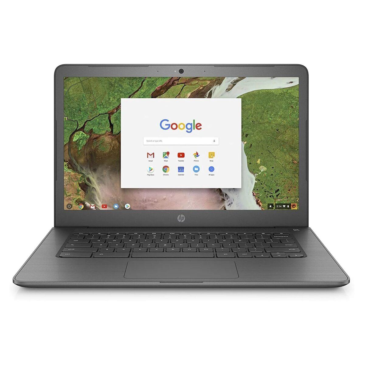 "HP Laptop Chromebook G5 Powerful 14"" 16GB 4GB Webcam HDMI Refurbished Black"